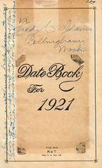 1921 Diary Frontispiece
