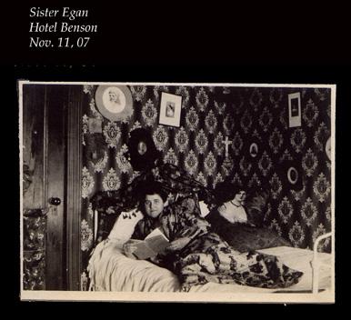 Sister Egan at hotel