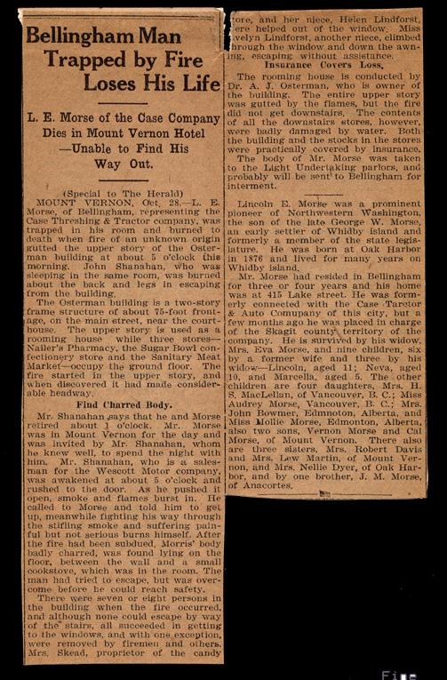 Lincoln Morse newsclip