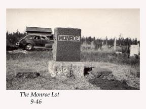 Monroe headstone