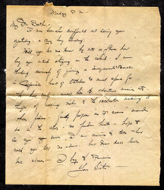 Sister Egan letter